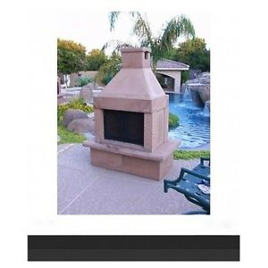 Outdoor Fireplace Kit No Mortar Wood Charcoal Grill Bbq Fire Pit Screen Patio Ebay