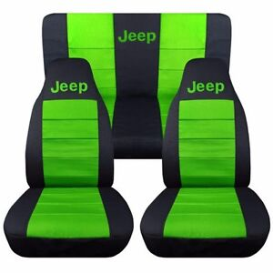 Front Rear 2005 2007 Jeep Liberty Seat Covers Black With