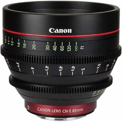 Canon 6571B001 Cinema Prime CN-E 85mm T1.3 L F EF Mount Lens - Black