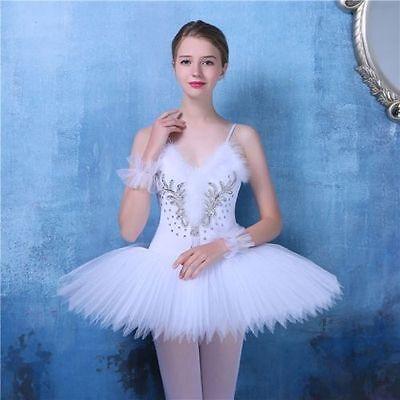 New Adult Professional Swan Lake Tutu Ballet Costume Hard Organdy Platter Skirt](Adult Tutu Costume)