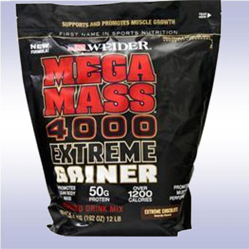 WEIDER MEGA MASS 4000 EXTREME GAINER  protein bcaa muscle po