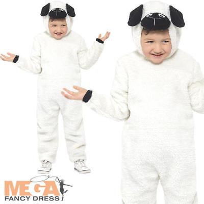 Sheep Kids Fancy Dress Farm Animal Lamb Girls Boys Jumpsuit Costume Outfit New - Kids Sheep Costumes