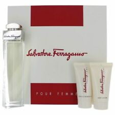 Set - Salvatore Ferragamo 100ml Edp Spr + 50ml B/L + 50ml S/G