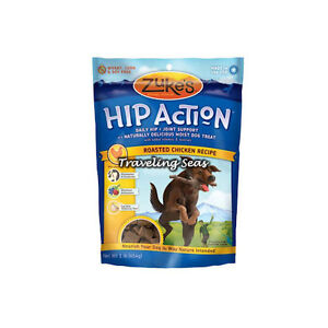 Zukes Hip Action Roasted Chicken 1lb Dog Treats Joint Glucosamine Chondroitin