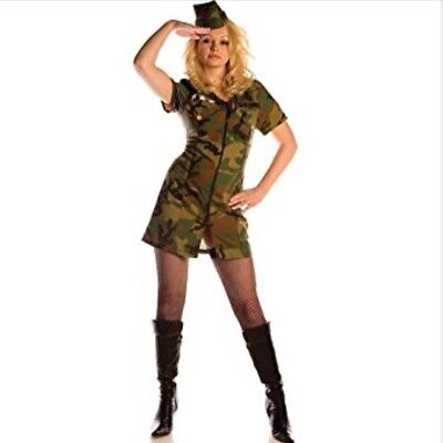 Underwraps Surrender Sexy Soldier Camo Costume Costumes Medium Halloween Army ()