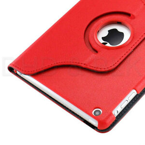 RED 360 ROTATING PU LEATHER CASE COVER WITH STAND FOR IPAD MINI Regina Regina Area image 9