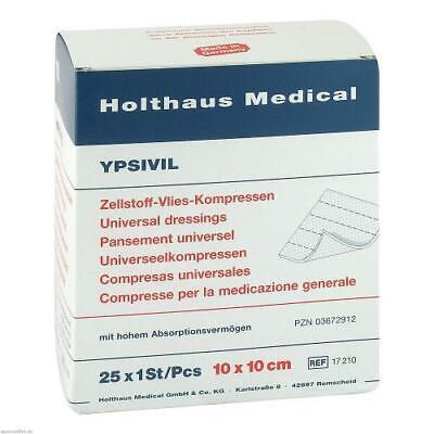 ZELLSTOFF VLIES KOMPRESSEN Ypsivil 10x10 cm steril 25X1 St