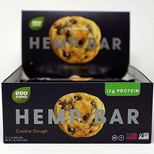 Evo Hemp Bar - Chocolate Cookie Dough, 1.7 Oz (Pack of 12)