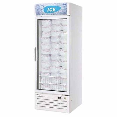 Turbo Air Tgim-23w-n 1 Glass Door Swing Ice Merchandiser White Cabinet