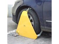 Triangle Wheel Clamp Like New High Quality Used by Councils Caravan Motorhome Trailer
