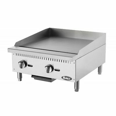 Atosa Atmg-24 Heavy Duty Stainless Steel 24-inch Manual Griddle Propane