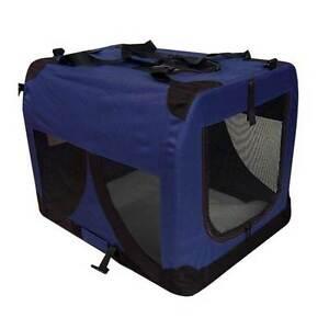 Large Portable Soft Pet Dog Crate Cage Kennel Blue Brisbane City Brisbane North West Preview