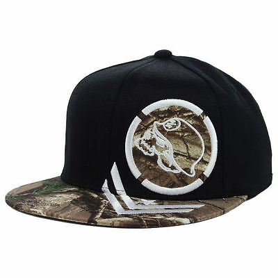 (Metal Mulisha Woods Flat Flex Hat Cap Bill Brim Motocross M/M Black Camo Fitted)