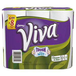 Viva Choose-a-Size Big Roll Towels White Paper 88/Roll 6 Rolls/Pack 4Rolls/CT