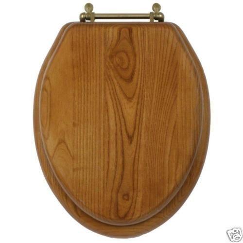 Elongated Oak Toilet Seat Ebay