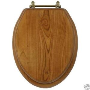 family toilet seat wood. Elongated Oak Toilet Seat  eBay