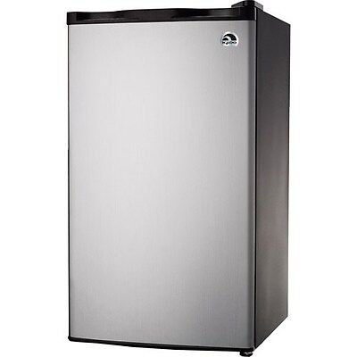 Igloo 3.2 Cu Ft Mini Fridge - Compact Refrigerator/Freezer, Platinum - FR322