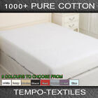 Patternless Egyptian Cotton Bedding Sheets