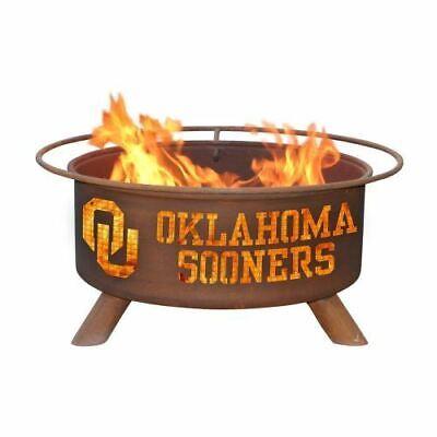 "Patina F218 Oklahoma Fire Pit In Natural Rust Patina 24"" Dia"