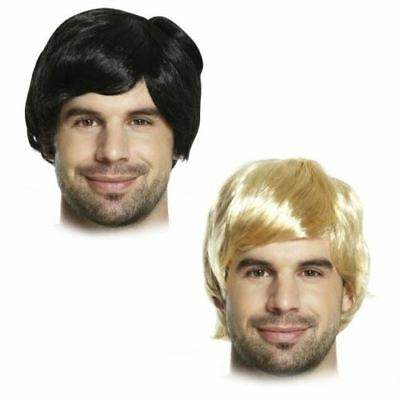 Adult Mens 60s 70s 80s Short Boy Band Wig Fancy Dress Accessory Male Fun U36 045 - 70s Mens Wig