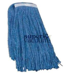 Janitorial Supplies Mop Head, 24 Oz Synthetic Blend Blue
