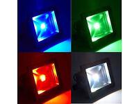 30W / 50W RGB LED Slim Floodlight Spotlight Security Waterproof With IR Remote Control,