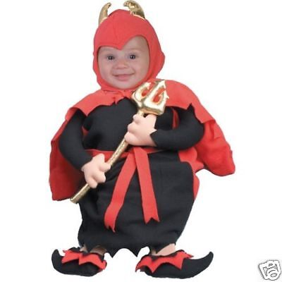 Adorable Lil' Devil Baby Child Halloween Costume - Infant/Newborn