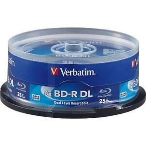 Verbatim BD-R DL 50GB 6X with Branded Surface - 25pk Spindle - 25pk Spindle - TAA Compliance