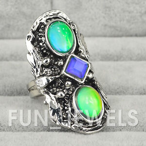 Bold Vintage Inspired 60s Mood Ring Multi Color Change Retro Free Color Chart