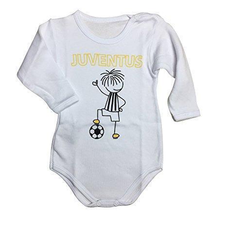 FC JUVENTUS Juve Body interlock felpato neonato Bianco nero ORIGINALE BYJ010