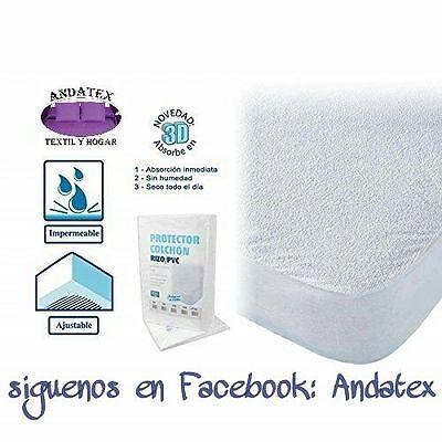 Protector de colchón de rizo impermeable para cama de 105cm/190-200 cm ajustable