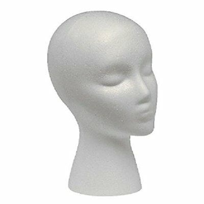 Styrofoam Mannequin Head With Female Face