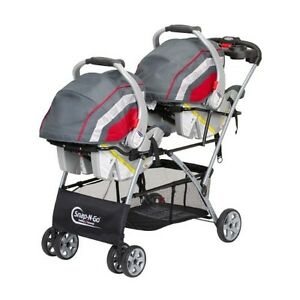 Infant Double Stroller Seat Classic Twin Tandem Baby Child