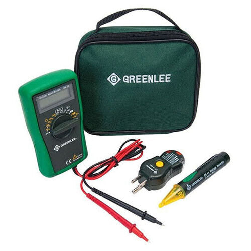 Greenlee TK-30AGFI 52065553 GFCI Electrical Kit w/DMM,Voltage Detector