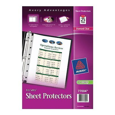 Avery Mini Heavyweight Sheet Protectors 5.5 X 8.5 Inches Pack Of 25 77004