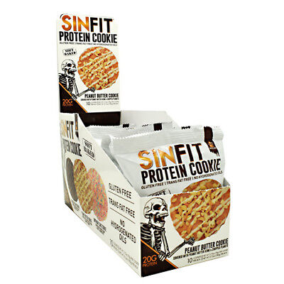 G10 Peanut - Sinister Labs SINFIT High Protein COOKIE 20g - 10 COOKIES PEANUT BUTTER