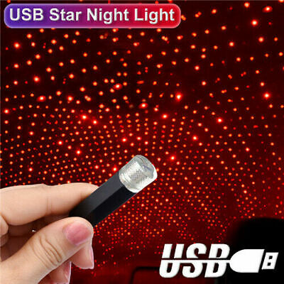 Car Parts - USB LED Car Roof Interior Atmosphere Star Night Light Lamp Projector Decor Light
