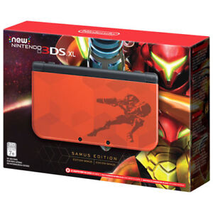 BRAND NEW NINTENDO 3DS XL SAMUS EDITION+NEW AC ADAPTER NEW