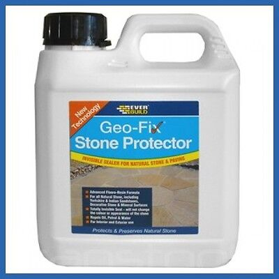 Everbuild Natural Stone and Tile Sealer GeoFix Protector 1 Litre EVBSTONE