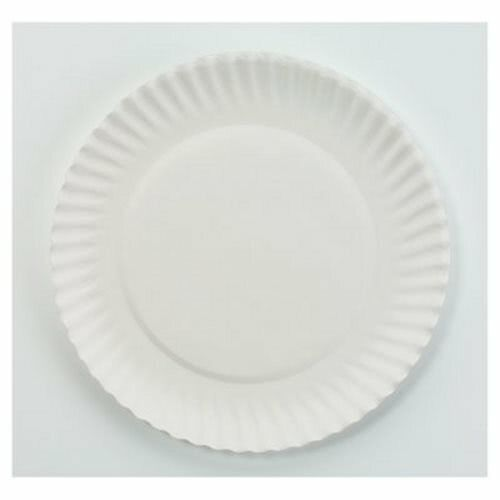"AJM Green Label 6"" Uncoated Paper Plates, 1,000 Plates (AJM PP6GREWH)"