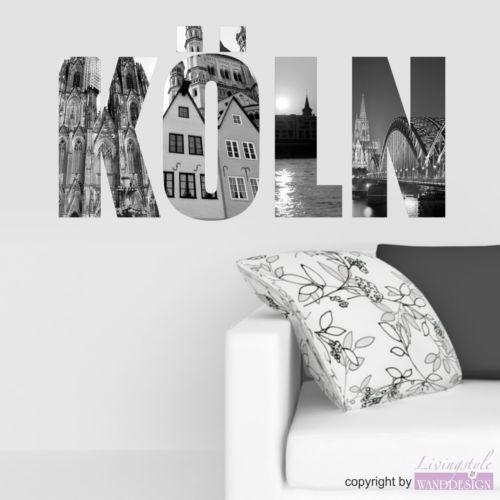 fototapete k ln foto ebay. Black Bedroom Furniture Sets. Home Design Ideas