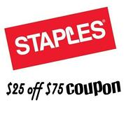Staples Coupon 25 Off