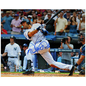 Derek Jeter Autographed 3000th Hit Photo 8x10