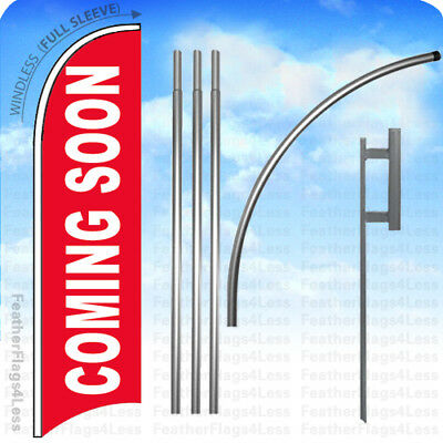 Coming Soon - Windless Swooper Flag Kit Feather Banner Sign 15 Set - Rb