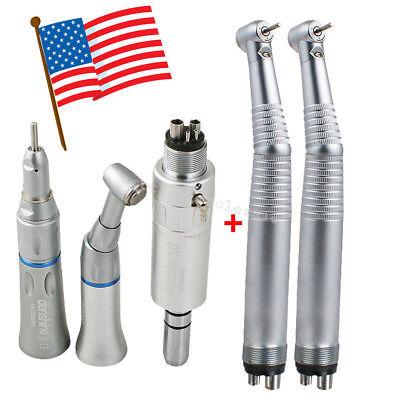 1 Low 2 Led High Speed Cartridge Dental Handpiece Kit Push 4 Holes 3 Way
