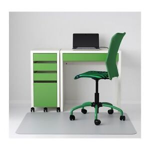 IKEA MICKE DESK WHITE/GREEN W. DRAWERS AND CHAIR (optional)