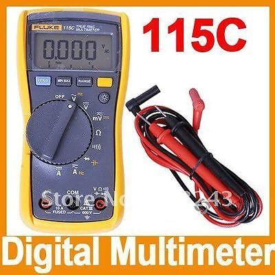 New Fluke F115 115c Field True Rms Multimeter 1000uf Backlight W Bag