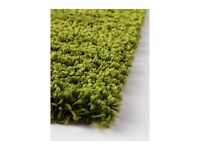 !!! £45 !!! - IKEA High Pile ADUM Rug - Green - Great Condition - Cost £150 New - 3m x 2m