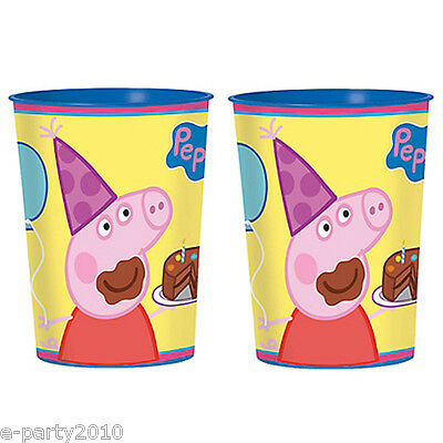 PEPPA PIG REUSABLE KEEPSAKE CUPS (2) ~ Birthday Party Supplies Favors Plastic ()