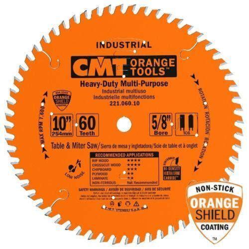 CMT 221.060.10 Industrial Cabinetshop Saw Blade, 10-Inch x 60 Teeth